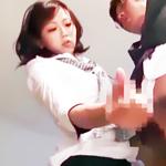 変態ですみません…w同僚の椅子でオナってたのがバレて…お仕置き手コキw-のサムネイル画像