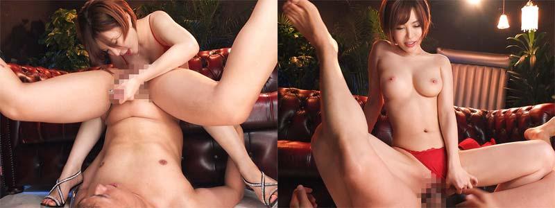 無料エロ動画「里美ゆりあちゃんが痴女プレイ♪淫語と手コキで焦らしてから騎乗位でハメる!」の紹介画像
