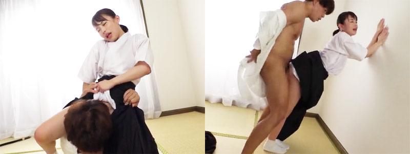 無料エロ動画「弓道部の女子が先輩を誘惑♪つゆだくエロコス濃厚セックス♪」の紹介画像