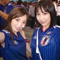 ロシアワールドカップの日本勝利に便乗してナンパ4P即ハメw-のサムネイル画像