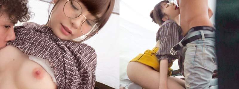 無料エロ動画「関西弁のメガネJD!ピンクの乳首と美尻が堪りませんw」の紹介画像